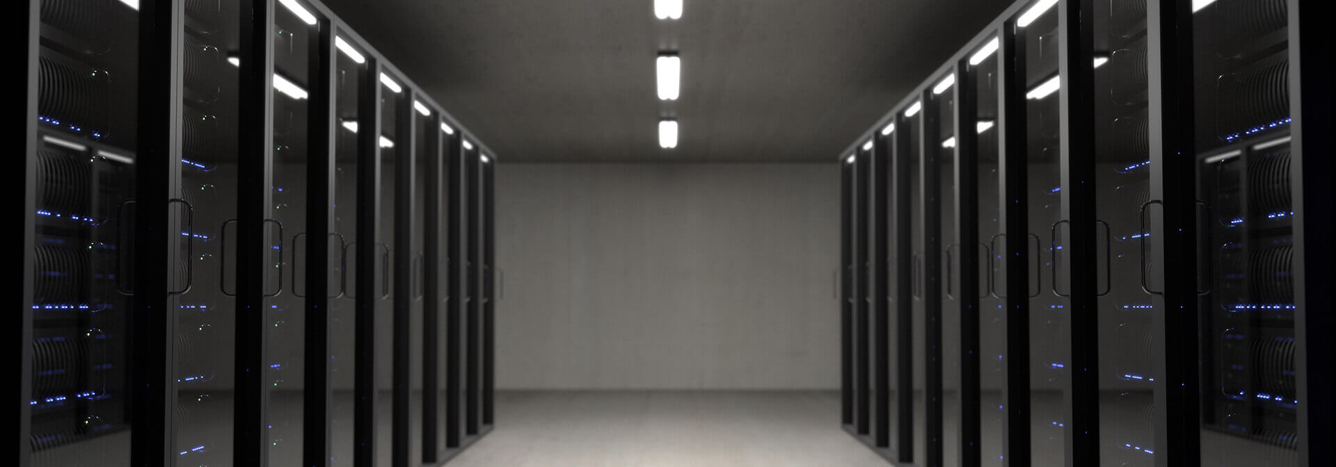 Picture of a server room. Represents cyber liability insurance